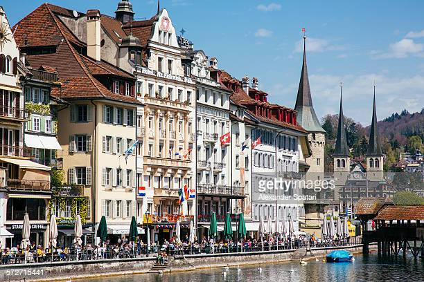 Houses at the waterfront, Lucerne, Switzerland