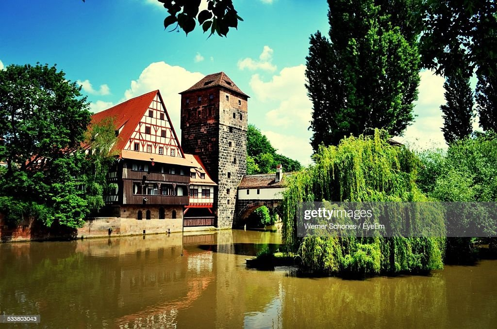 Houses At Waterfront : Foto stock