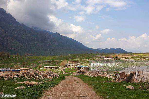 Houses built in the countryside between Arbil and Dohuk in the autonomous Iraqi Kurdistan region Northern Iraq