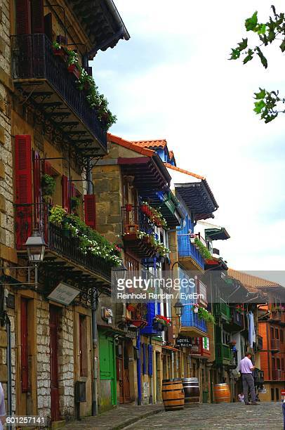 Houses By Street At Hondarribia