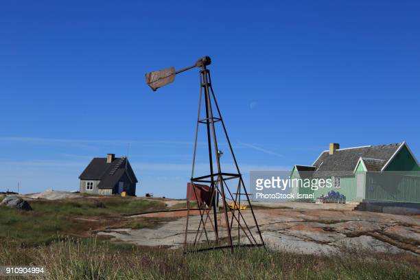 Houses, Disko Bay, Greenland