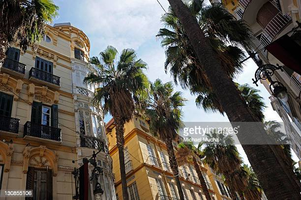 houses, downtown, malaga, andalusia, spain, europe - michael mucha stock-fotos und bilder