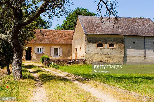 Houses in a field, Loire Valley, France