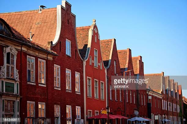 Houses in a row, Dutch Quarter, Potsdam, Brandenburg, Germany