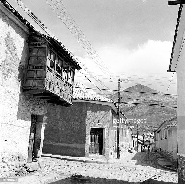 houses in a village, silver mountain, potosi, potosi department, bolivia - potosí potosí department stock pictures, royalty-free photos & images