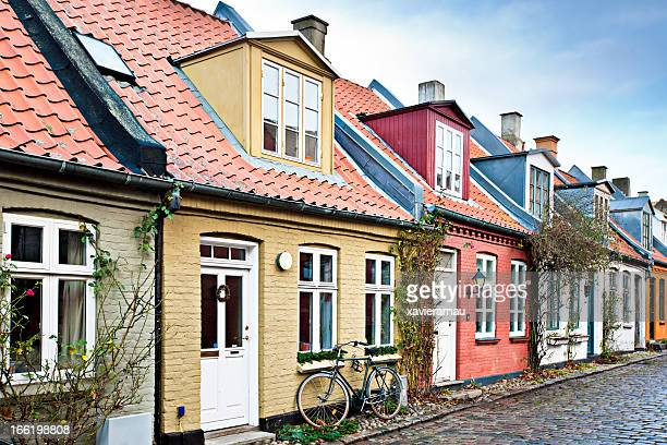 houses in aarhus - denmark stock pictures, royalty-free photos & images