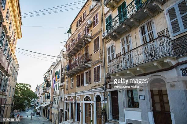 Houses in Corfu Town, Greece