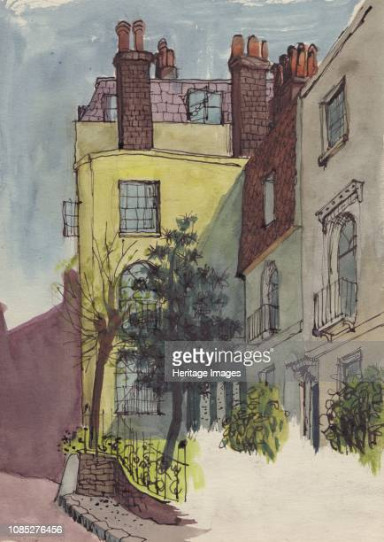 Houses in Hampstead circa 1950 Terraced houses in Hampstead north London Artist Shirley Markham