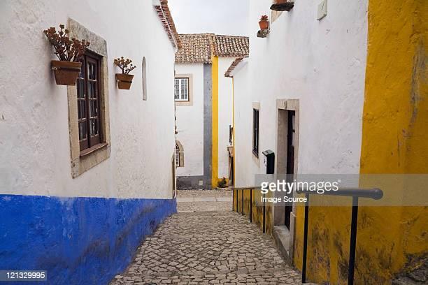 Maisons d'Obidos, Portugal