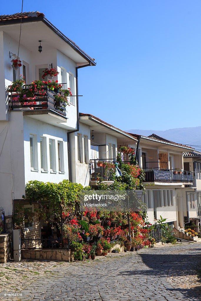 Houses in Ohrid, FYRM (Macedonia) : Stock Photo
