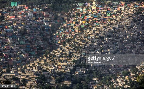 houses in residential district, port-au-prince, haiti - port au prince stock pictures, royalty-free photos & images