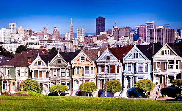 Houses in row in San Francisco