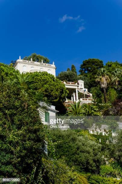 houses in saint jean cap-ferrat, france - saint jean cap ferrat stock pictures, royalty-free photos & images