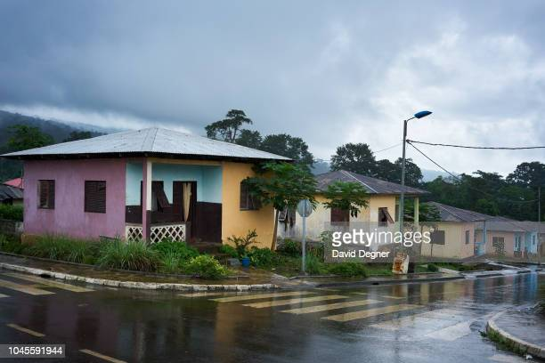 Houses in southern Bioko on August 09 2018 near Luba Equatorial Guinea