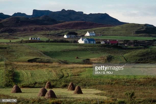 Houses in Staffin Isle of Skye Hebrides Scotland United Kingdom