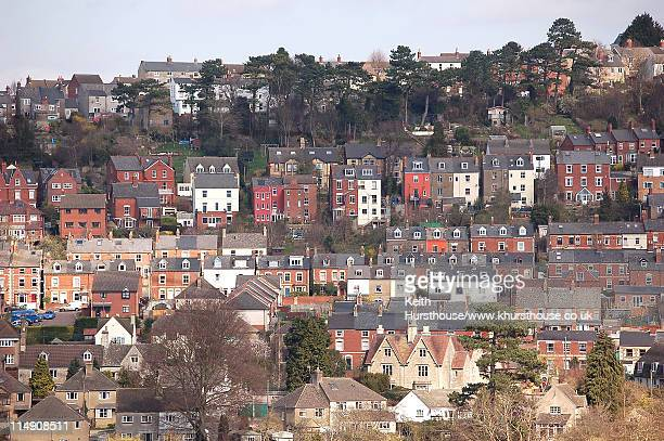 houses in stroud - gloucestershire stock pictures, royalty-free photos & images
