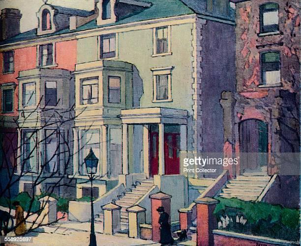 'Houses in Sunlight Hampstead' c20th century From The Studio Volume 130 [The Studio Ltd London New York 1945]