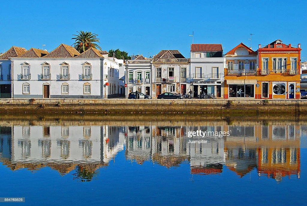 Houses in Tavira : Stock Photo