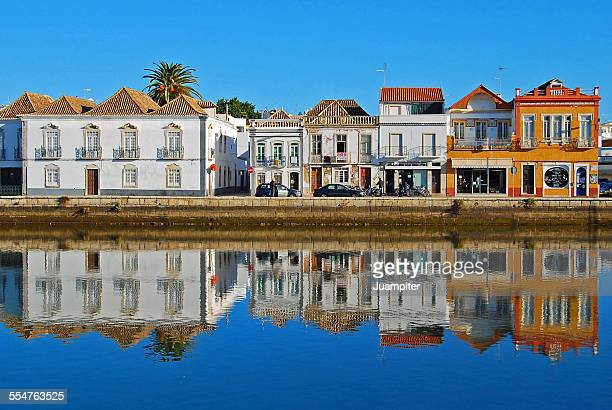 houses in tavira - algarve stock photos and pictures