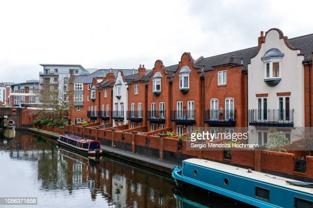 houses in the brindleyplace area of birmingham, england - birmingham england stock pictures, royalty-free photos & images