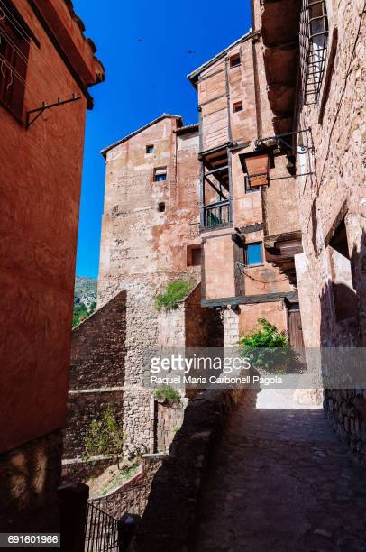 ALBARRACíN TERUEL ARAGóN SPAIN Houses in the medieval village of Albarracin