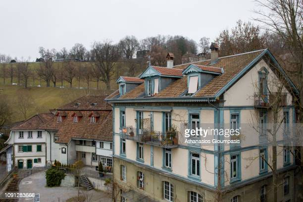 Houses in the Old City of Bern on January 01 2019 in Bern Switzerland The old town is the medieval city center of Bern Bern is the capital city of...