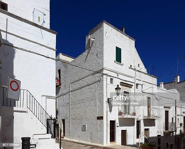 Houses in the old city of Locorotondo Puglia Italy