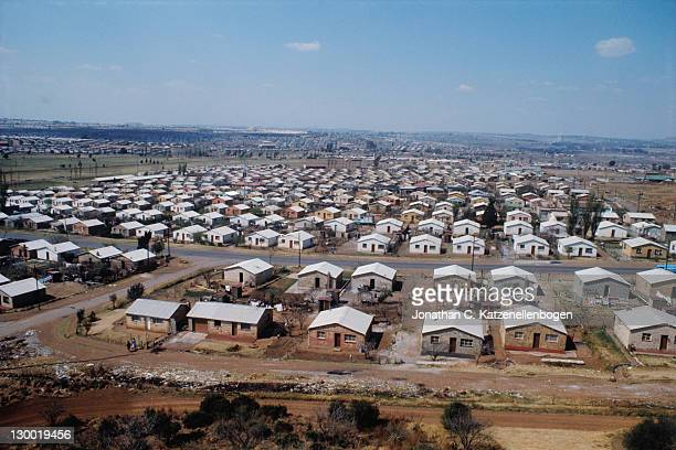 Houses in the South African township of Soweto, September 1975.