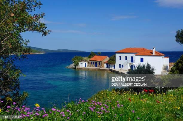 Houses in the Tzasteni Bay Pelion Peninsula Greece
