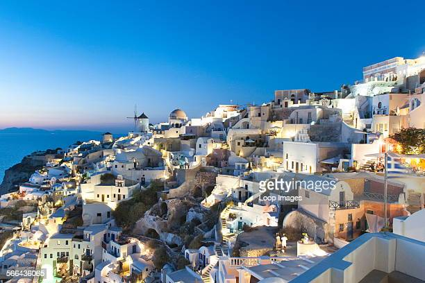 Houses in the village of Oia on the Greek island of Santorini