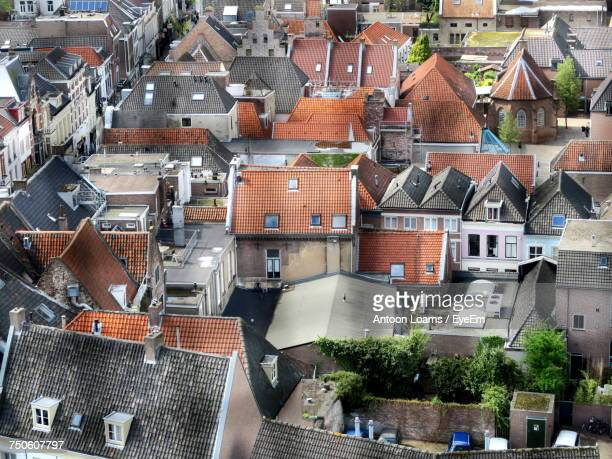 houses in town - nijmegen stock pictures, royalty-free photos & images