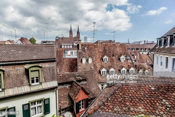 houses in town - basel switzerland stock pictures, royalty-free photos & images