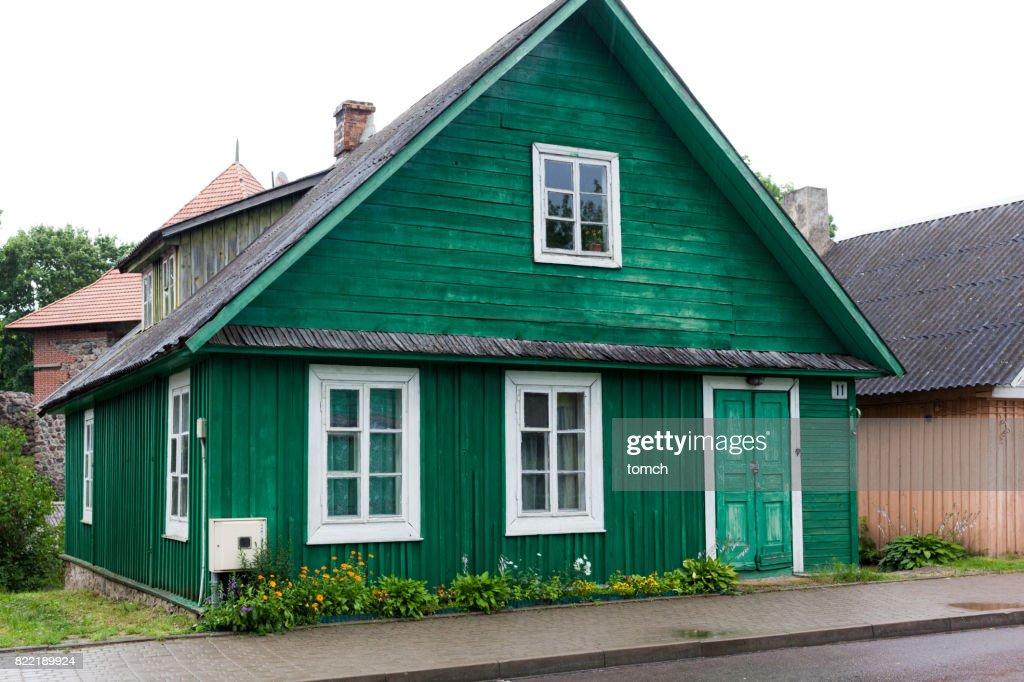 Houses of Karaites in Trakai, Lithuania. : Stock Photo