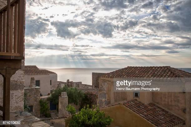 Houses of Monemvasia (Lower Town), Peloponnese, Greece