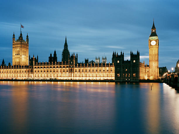 Houses Of Parliament And Big Ben At Dusk Wall Art