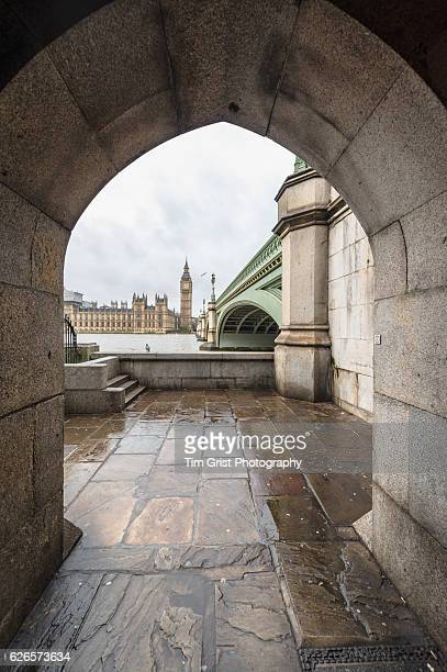 Houses of Parliament and Big Ben seen through an Archway