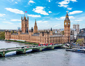 Houses of Parliament (Westminster palace) and Big Ben tower, London, UK