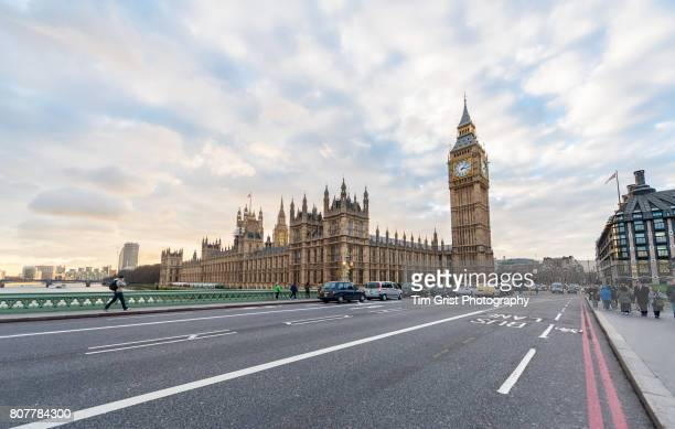 Houses of Parliament and Westminster Bridge, London.