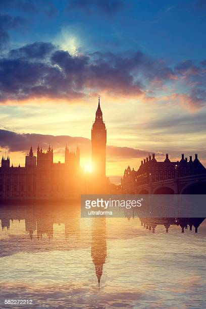 Houses of Parliament at sunset in London