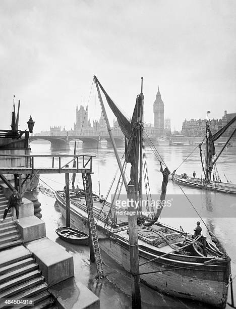 Houses of Parliament from the River Thames Lambeth London c1920s Reid an amateur photographer of independent means began an ambitious project to...