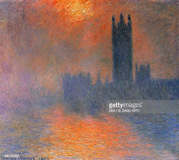 Houses of Parliament London sun breaking through the fog by Claude Monet Paris Musée D'Orsay