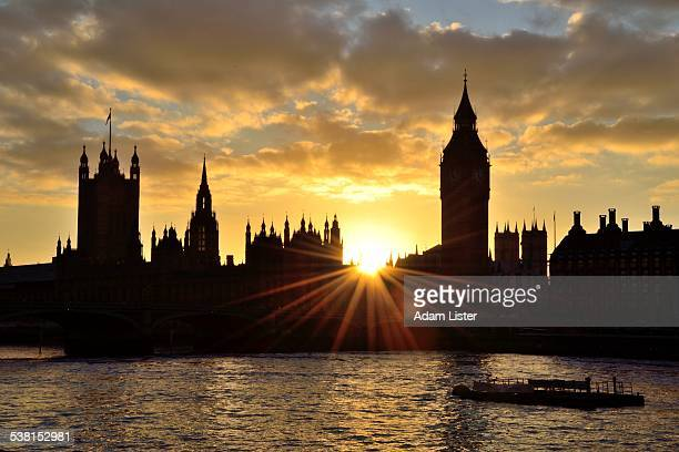 Houses of Parliament sunburst