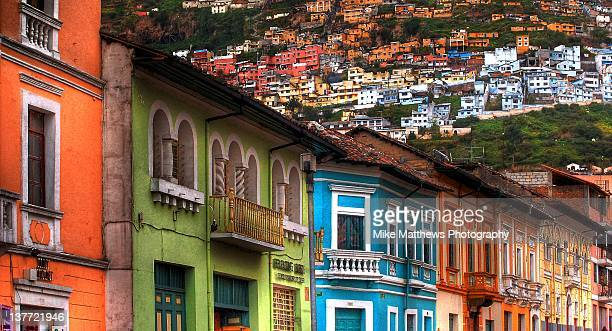 houses of quito - ecuador stock pictures, royalty-free photos & images