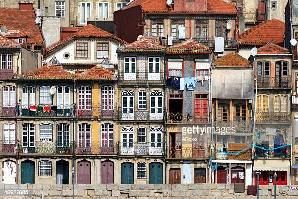 houses of the historic city center of porto - porto portugal stock pictures, royalty-free photos & images