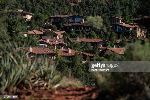 Houses on a hillside in West Sedona as seen from the Adobe Jack Trail on Wednesday April 22 2020 in Sedona AZ In early April in an attempt to slow...
