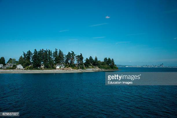 Houses on Bainbridge Island Seattle Washington