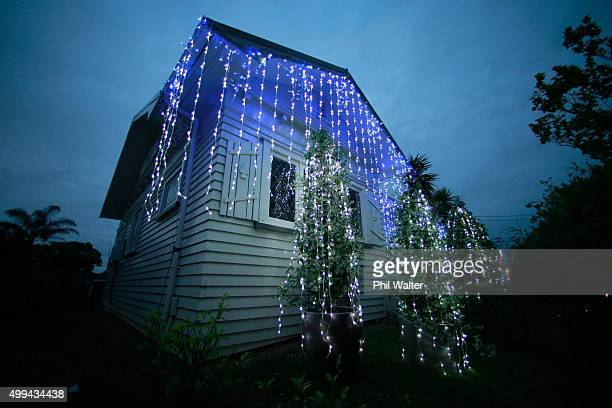 Houses on Franklin Road in Ponsonby are decorated in Christmas lights on December 1 2015 in Auckland New Zealand It is the 22nd year Franklin Road...