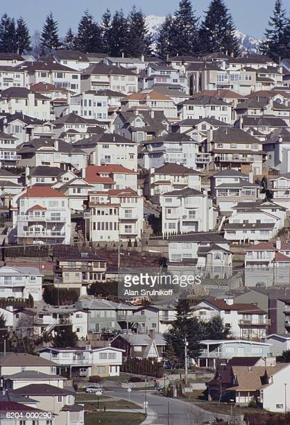 houses on hill - sirulnikoff stock pictures, royalty-free photos & images