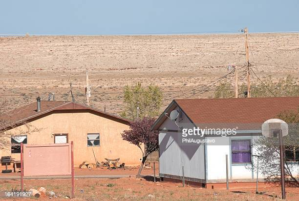houses on navajo reservation in northern arizona - native american reservation stock pictures, royalty-free photos & images
