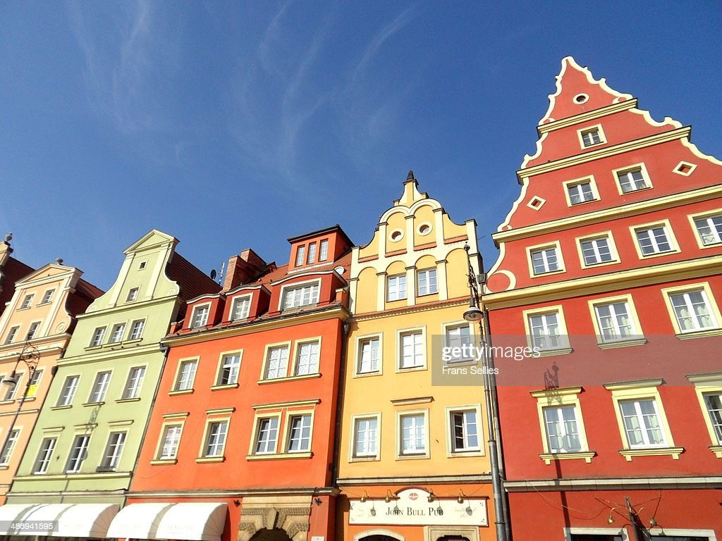 Houses on Plac Solny in Wroclaw : Stockfoto